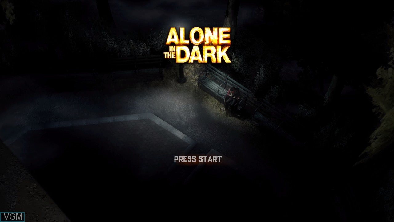 Title screen of the game Alone in the Dark on Microsoft Xbox 360