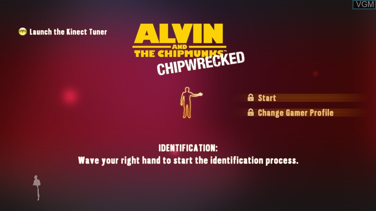 Title screen of the game Alvin and the Chipmunks - Chipwrecked on Microsoft Xbox 360