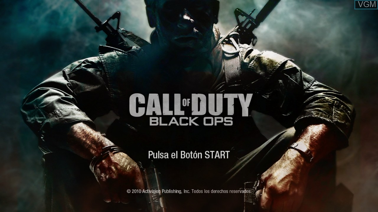 Title screen of the game Call of Duty - Black Ops on Microsoft Xbox 360