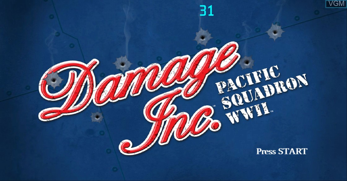 Title screen of the game Damage Inc. - Pacific Squadron WWII on Microsoft Xbox 360