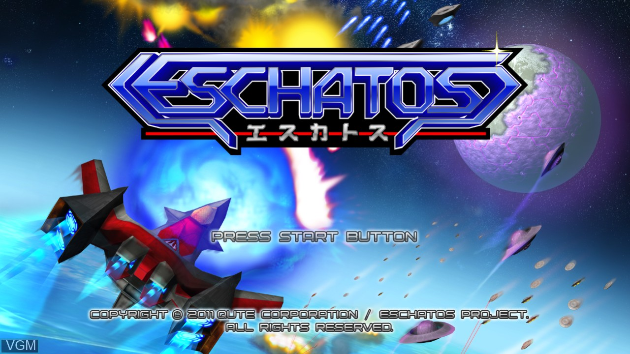 Title screen of the game Eschatos on Microsoft Xbox 360