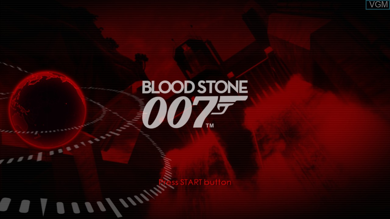 Title screen of the game James Bond 007 - Blood Stone on Microsoft Xbox 360