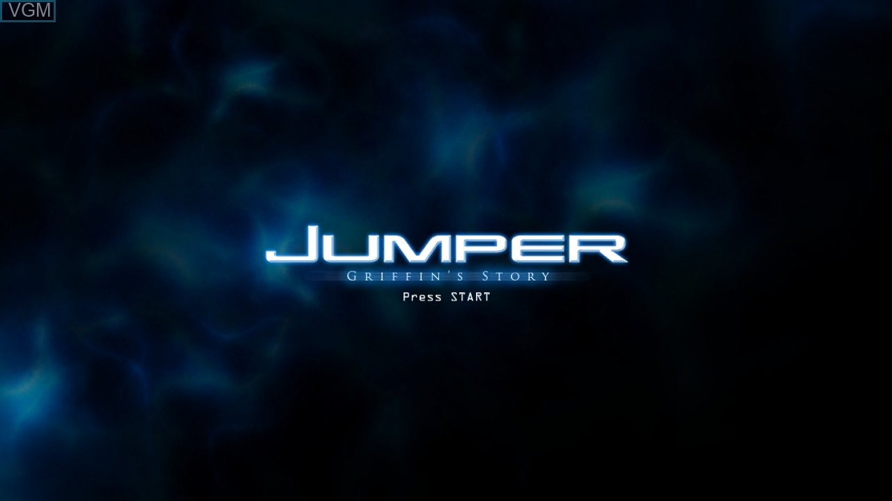 Title screen of the game Jumper - Griffin's Story on Microsoft Xbox 360