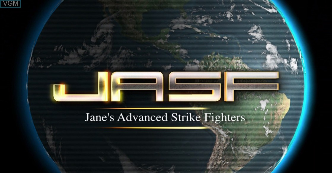 Title screen of the game JASF - Jane's Advanced Strike Fighters on Microsoft Xbox 360