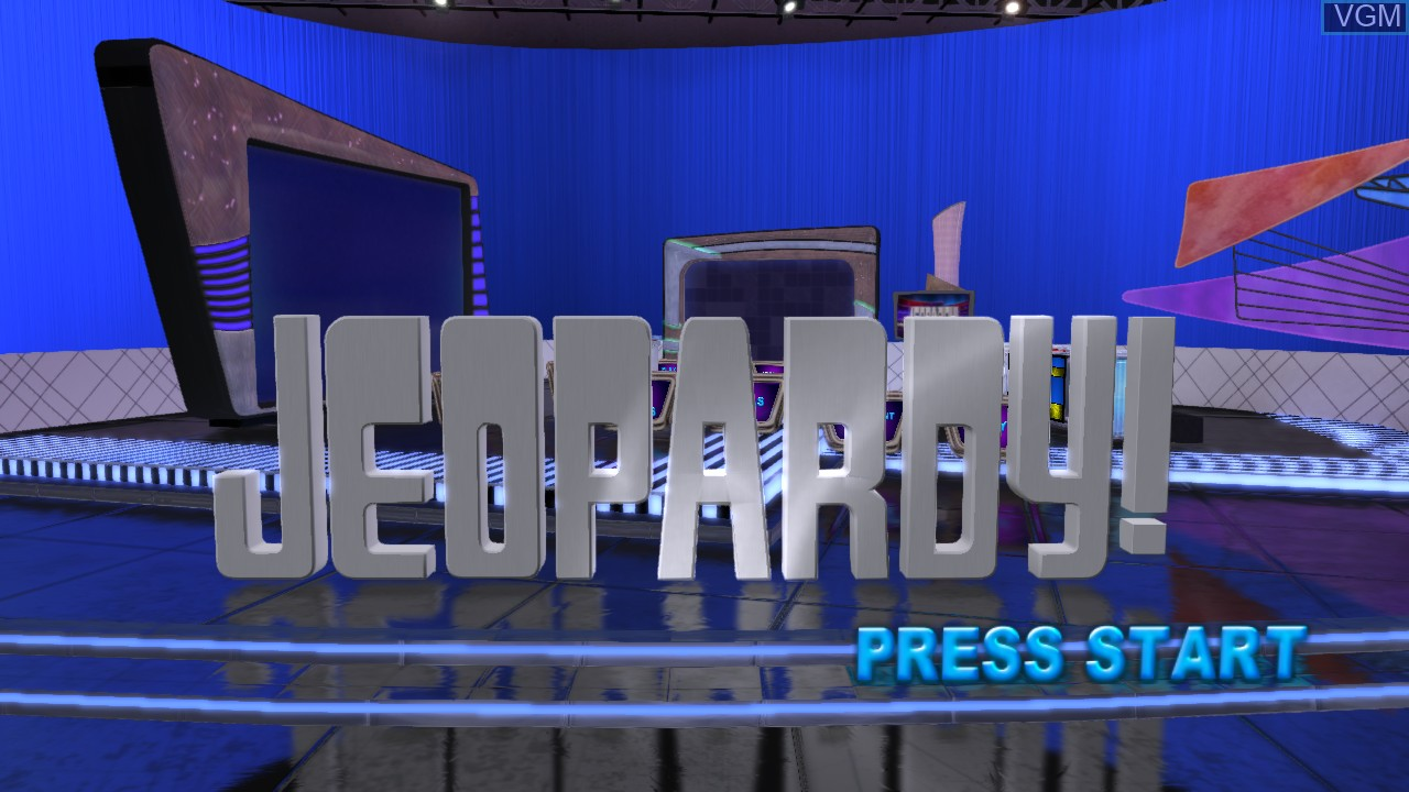 Title screen of the game Jeopardy! on Microsoft Xbox 360