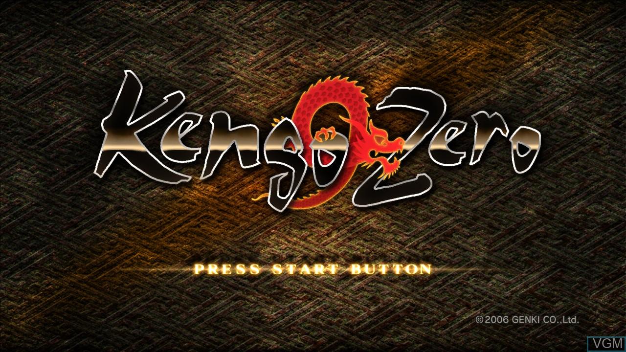 Title screen of the game Kengo Zero on Microsoft Xbox 360