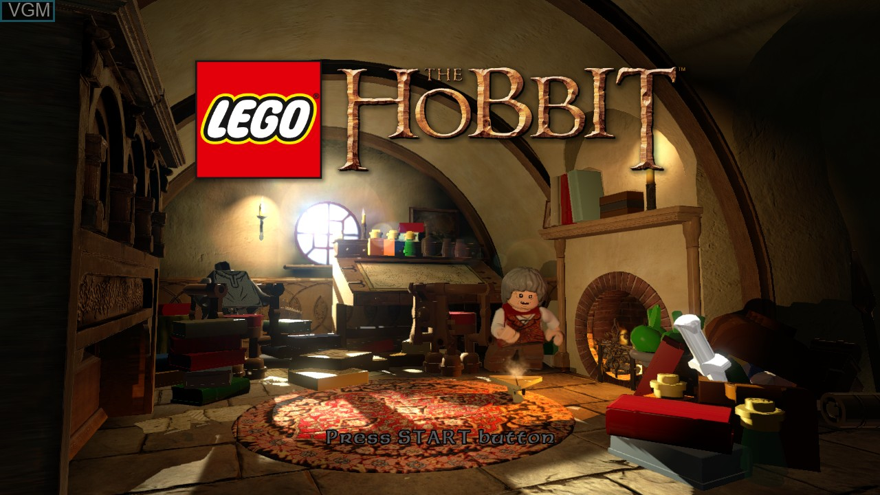 Title screen of the game LEGO The Hobbit on Microsoft Xbox 360