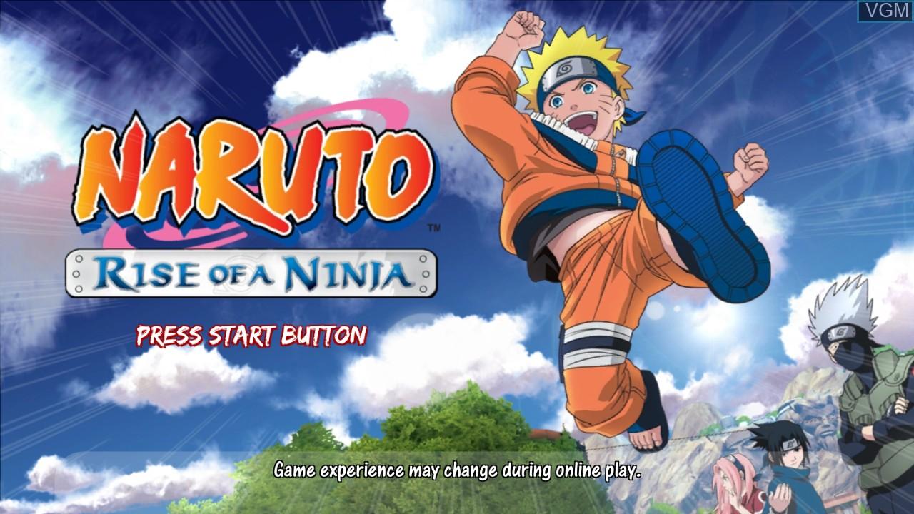 Title screen of the game Naruto - Rise of a Ninja on Microsoft Xbox 360