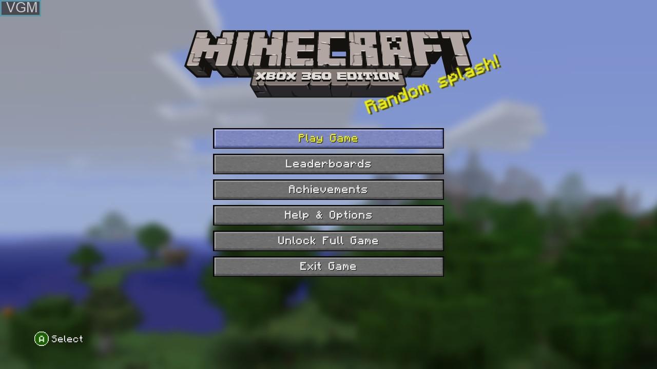 Minecraft - Xbox 360 Edition for Microsoft Xbox 360 - The Video
