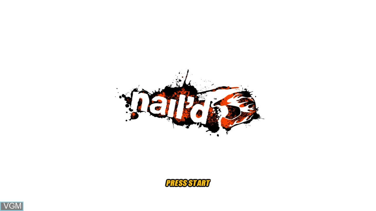 Title screen of the game nail'd on Microsoft Xbox 360