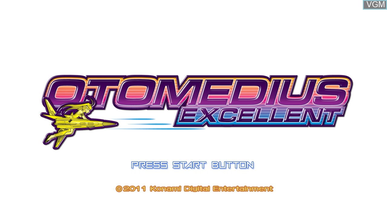 Title screen of the game Otomedius Excellent on Microsoft Xbox 360