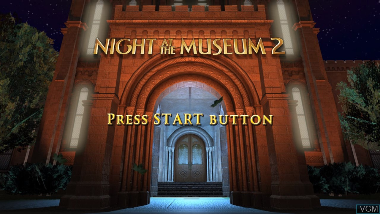 Title screen of the game Night at the Museum 2 on Microsoft Xbox 360