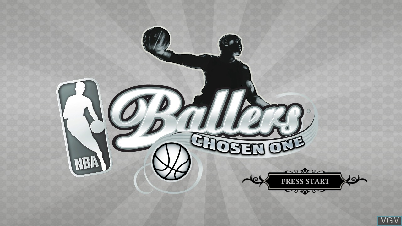 Title screen of the game NBA Ballers - Chosen One on Microsoft Xbox 360