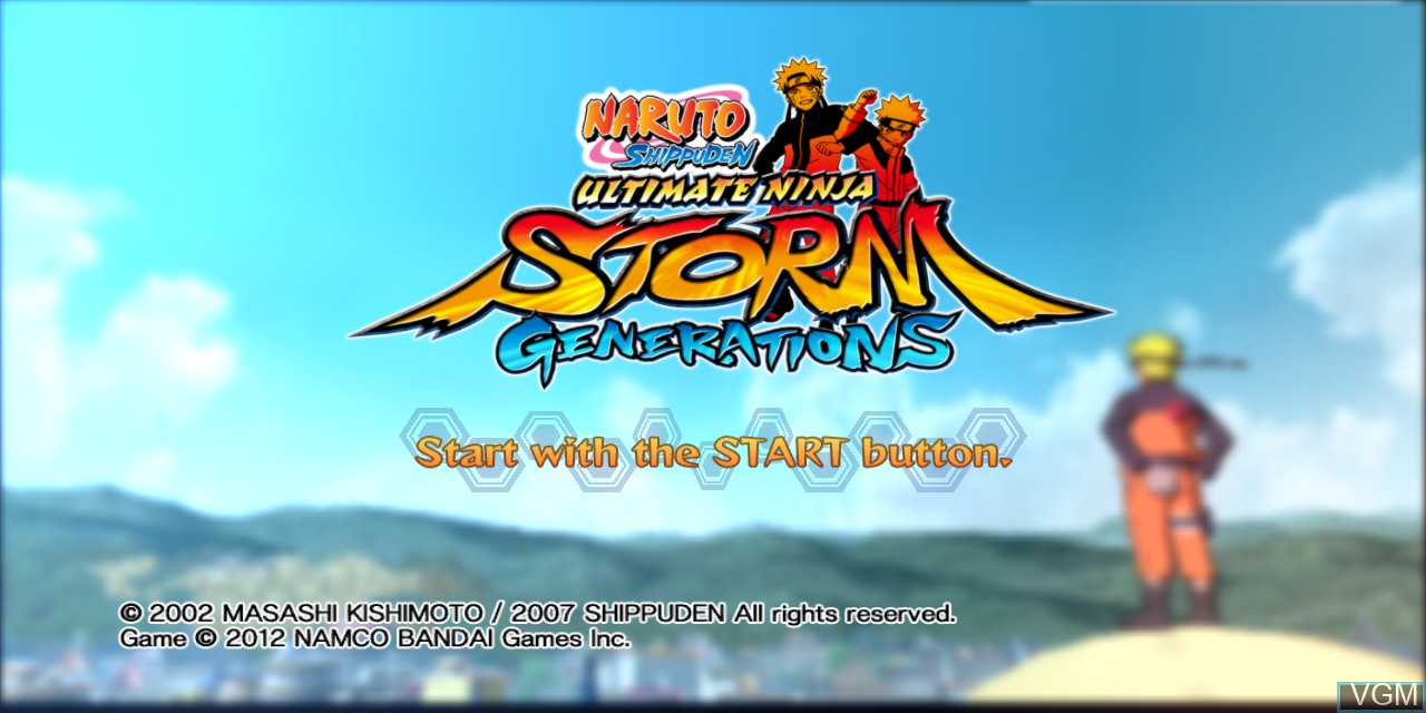 Title screen of the game Naruto Shippuden - Ultimate Ninja Storm Generations on Microsoft Xbox 360