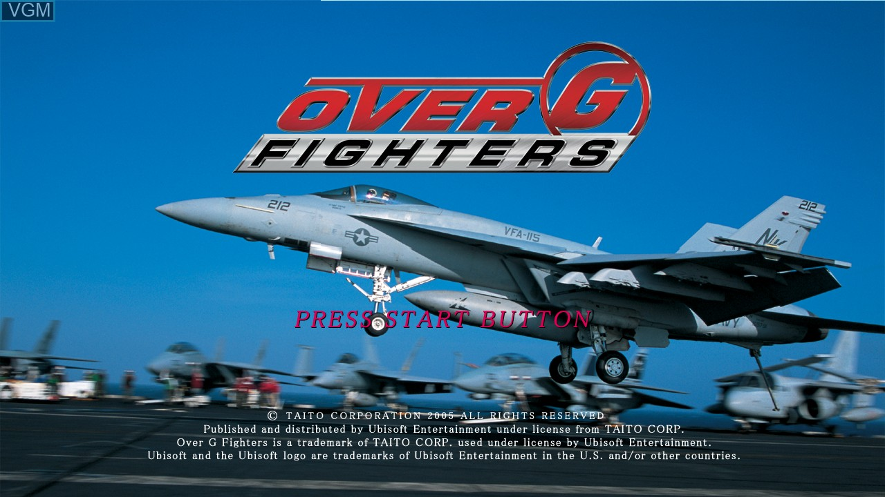 Title screen of the game Over G Fighters on Microsoft Xbox 360