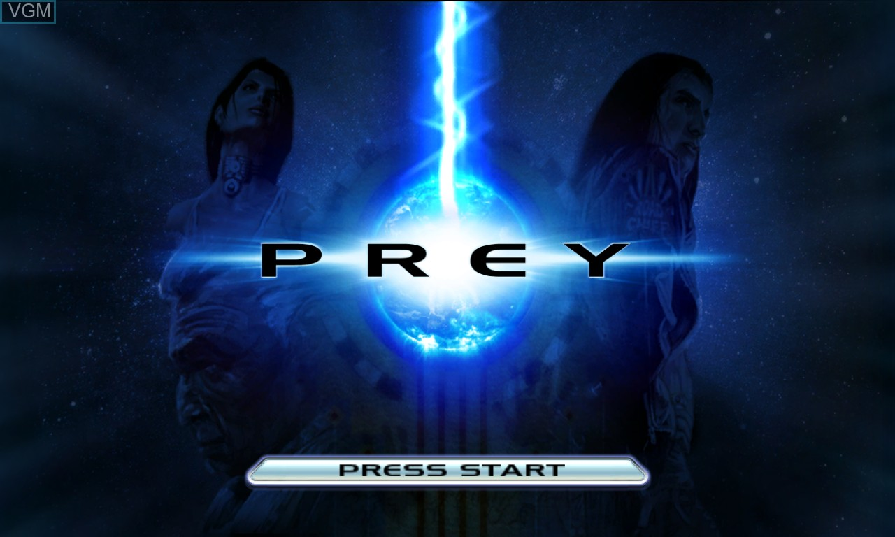 Title screen of the game Prey on Microsoft Xbox 360
