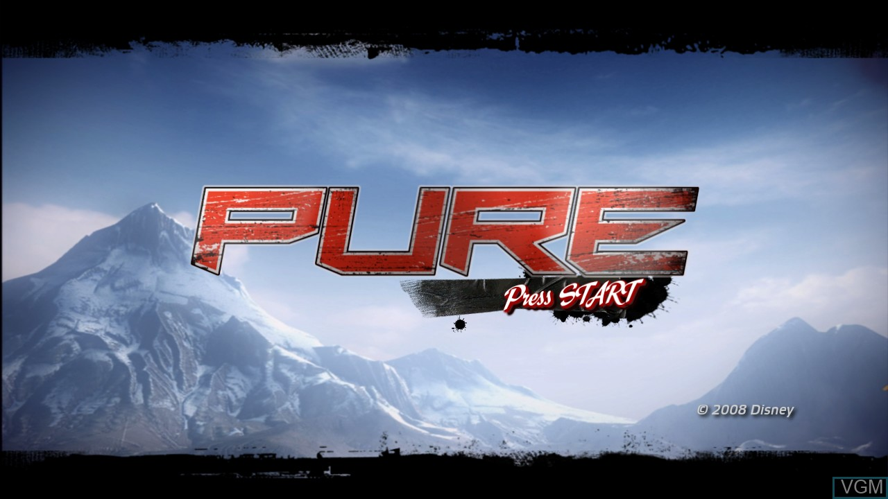 Title screen of the game Pure on Microsoft Xbox 360