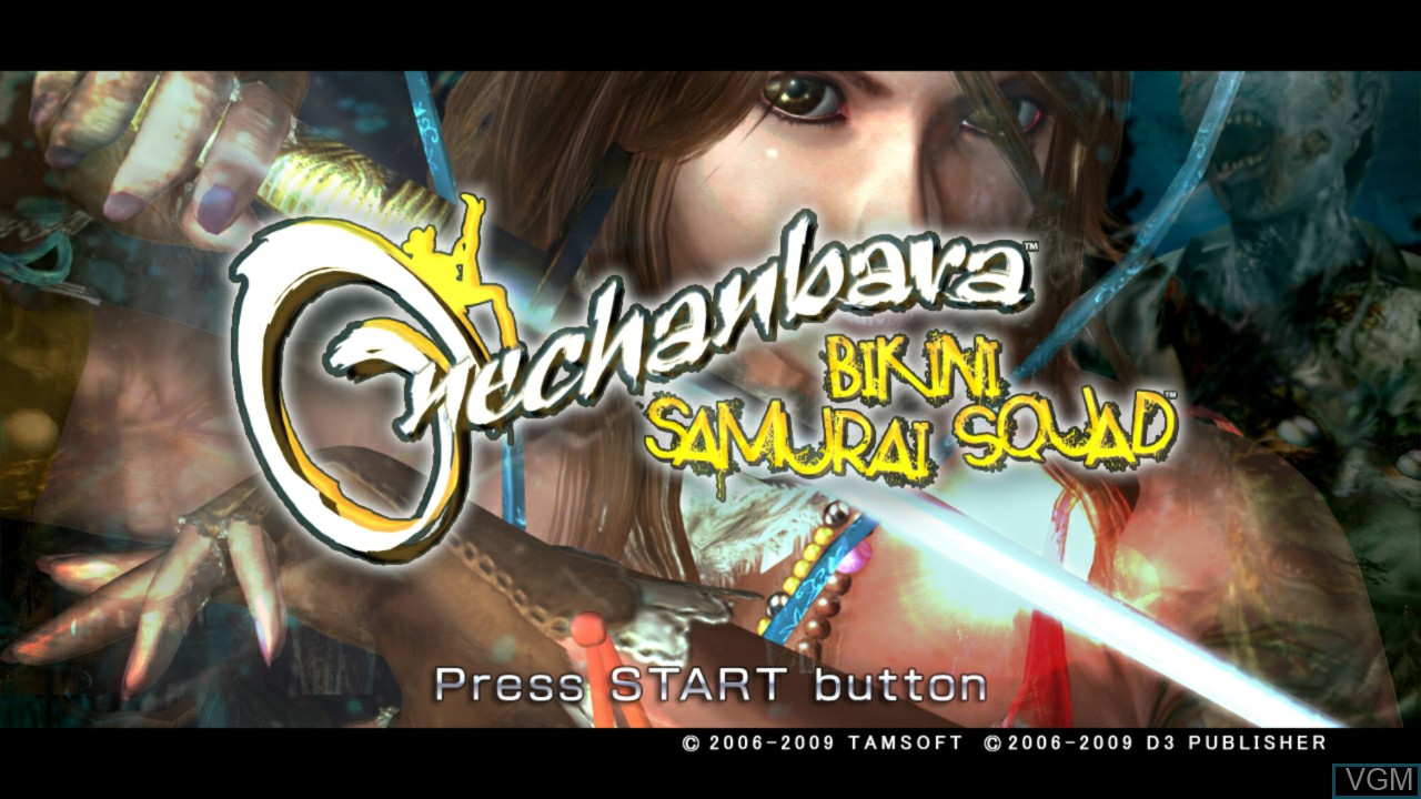 Title screen of the game Onechanbara - Bikini Samurai Squad on Microsoft Xbox 360