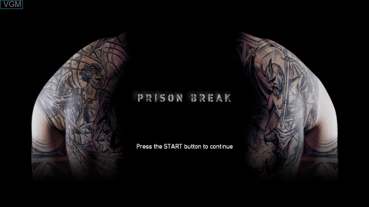 Title screen of the game Prison Break - The Conspiracy on Microsoft Xbox 360