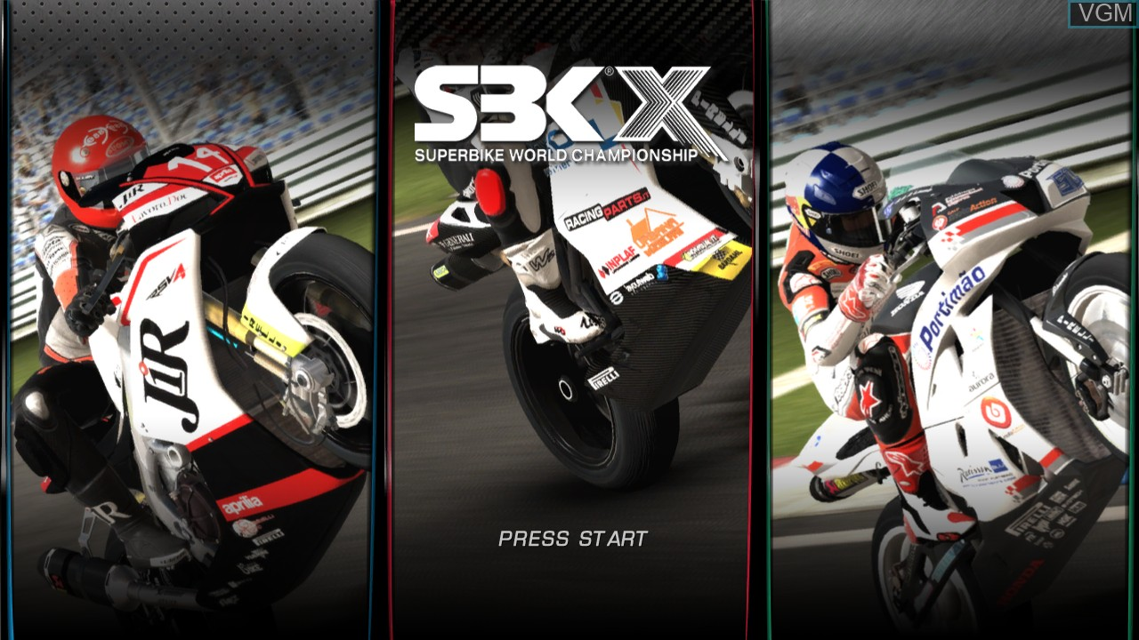Title screen of the game SBK X - Superbike World Championship - JP Edition on Microsoft Xbox 360