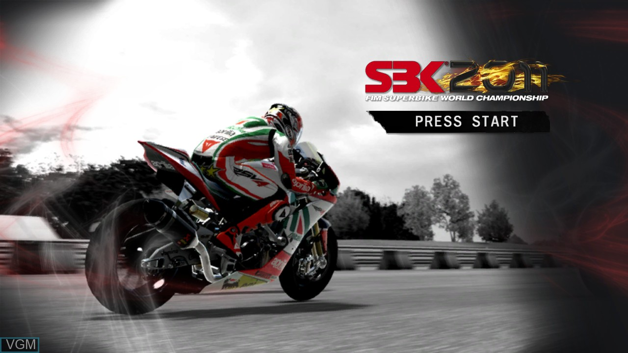 Title screen of the game SBK 2011 on Microsoft Xbox 360