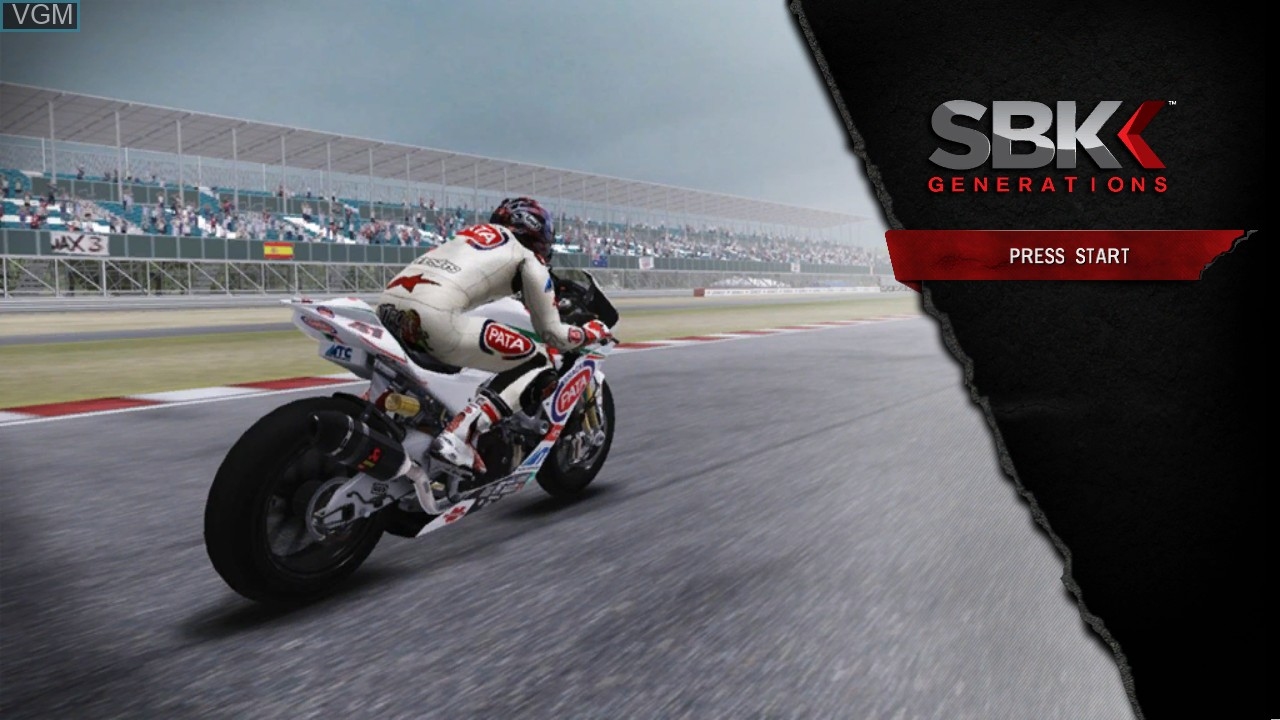 Title screen of the game SBK Generations on Microsoft Xbox 360
