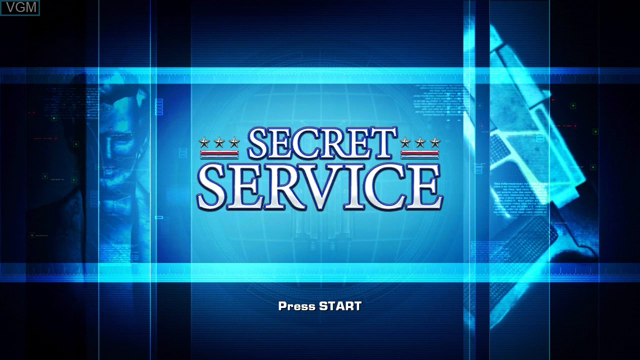 Title screen of the game Secret Service on Microsoft Xbox 360