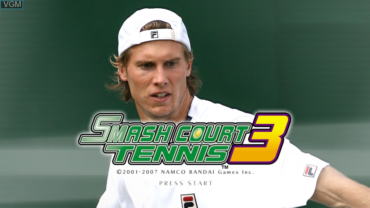 Title screen of the game Smash Court Tennis 3 on Microsoft Xbox 360