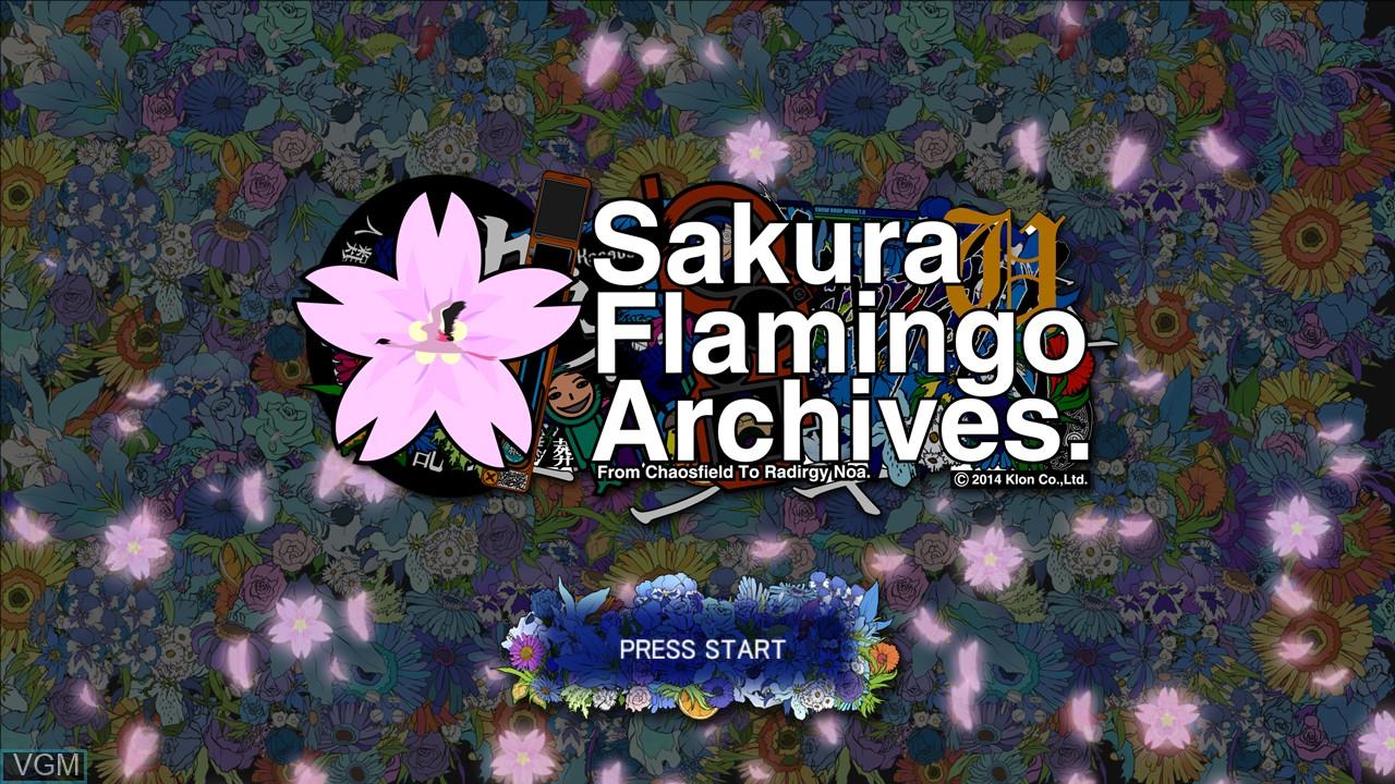 Title screen of the game Sakura Flamingo Archives on Microsoft Xbox 360
