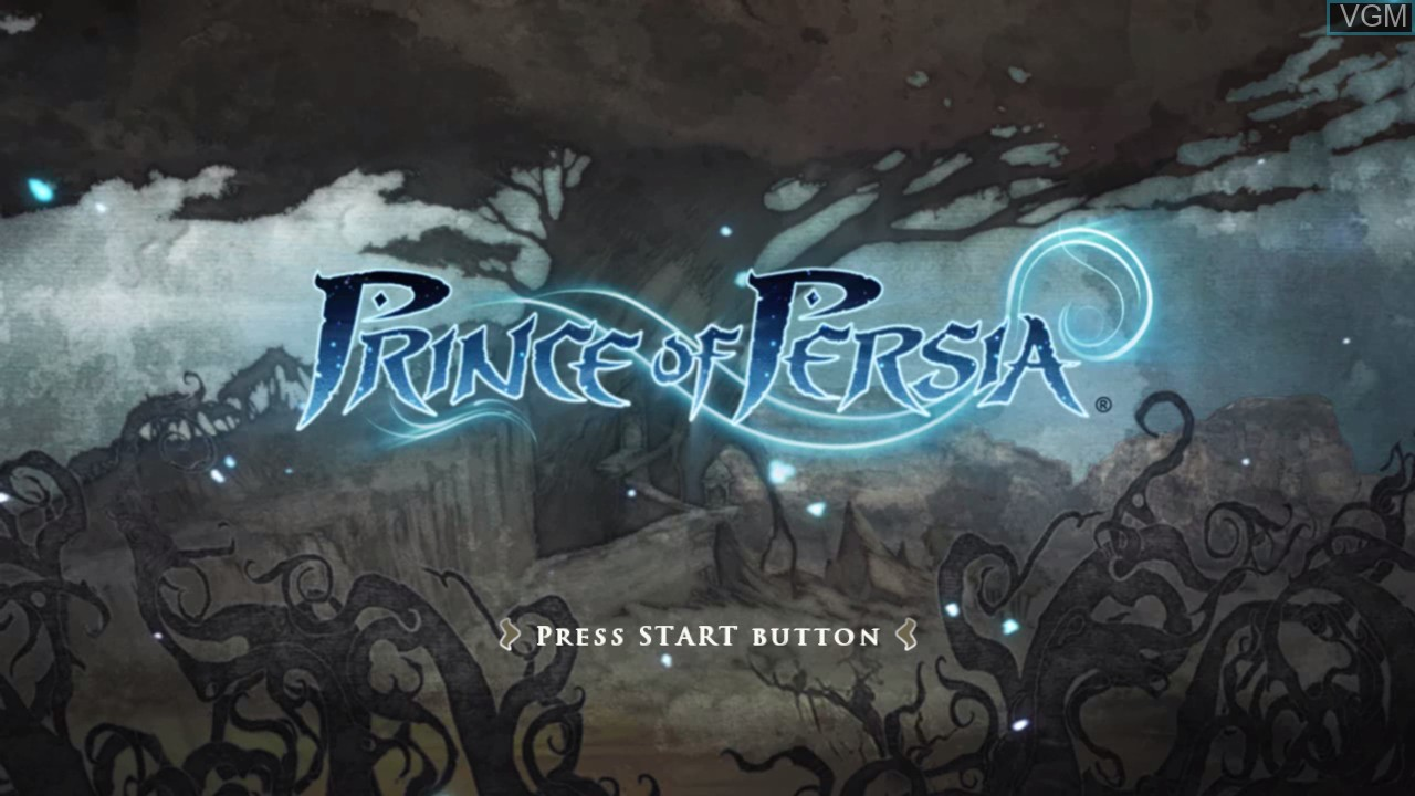 Title screen of the game Prince of Persia on Microsoft Xbox 360