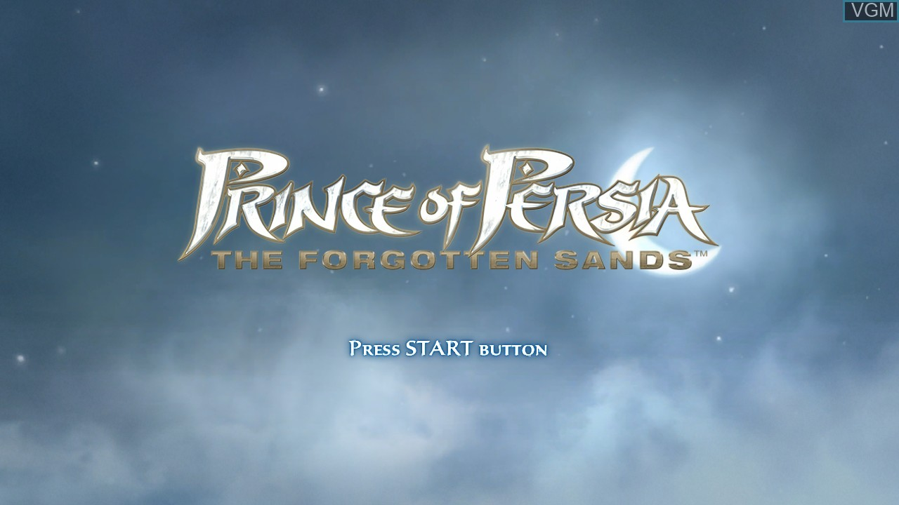 Title screen of the game Prince of Persia - The Forgotten Sands on Microsoft Xbox 360