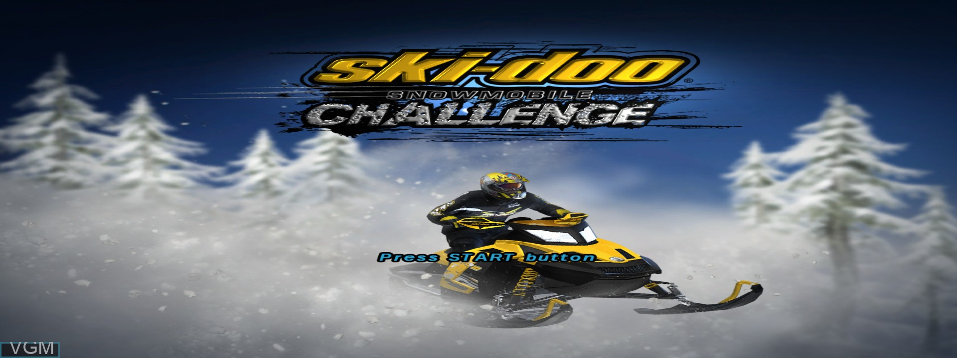 Title screen of the game Ski Doo - Snowmobile Challenge on Microsoft Xbox 360