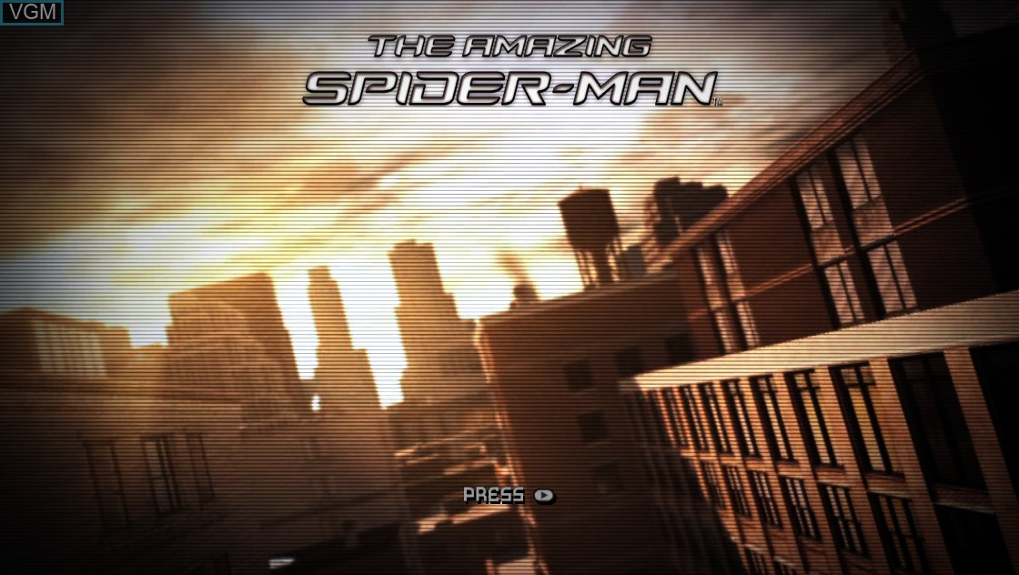 Title screen of the game Amazing Spider-Man, The on Microsoft Xbox 360