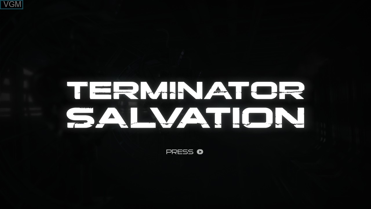 Title screen of the game Terminator Salvation on Microsoft Xbox 360