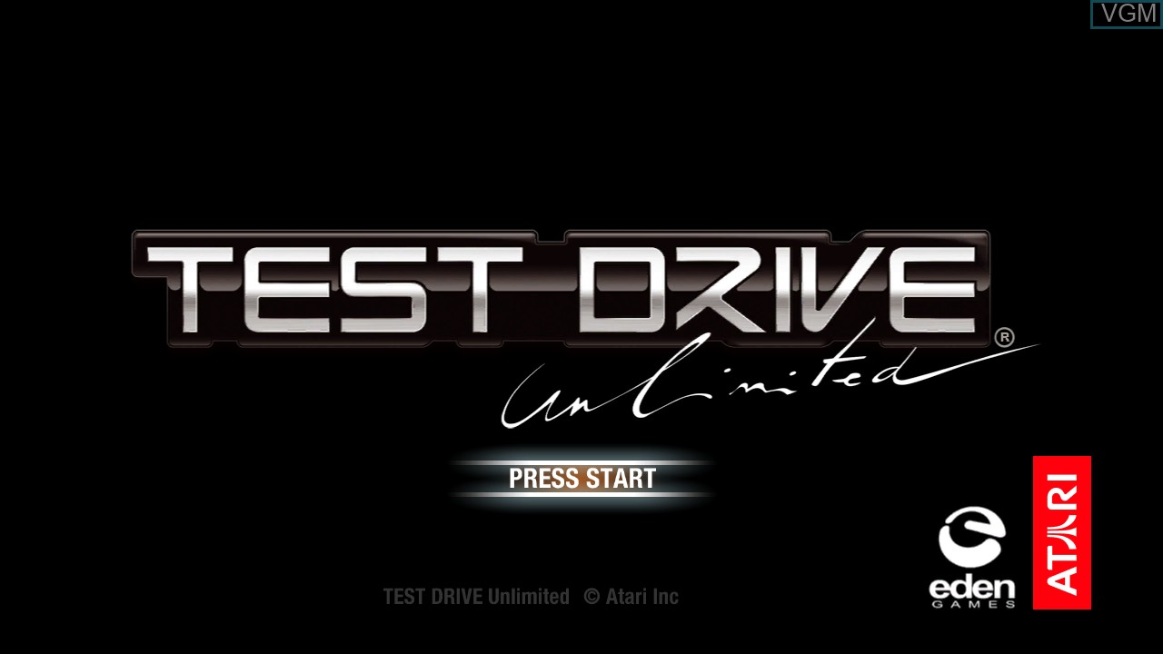 Title screen of the game Test Drive Unlimited on Microsoft Xbox 360