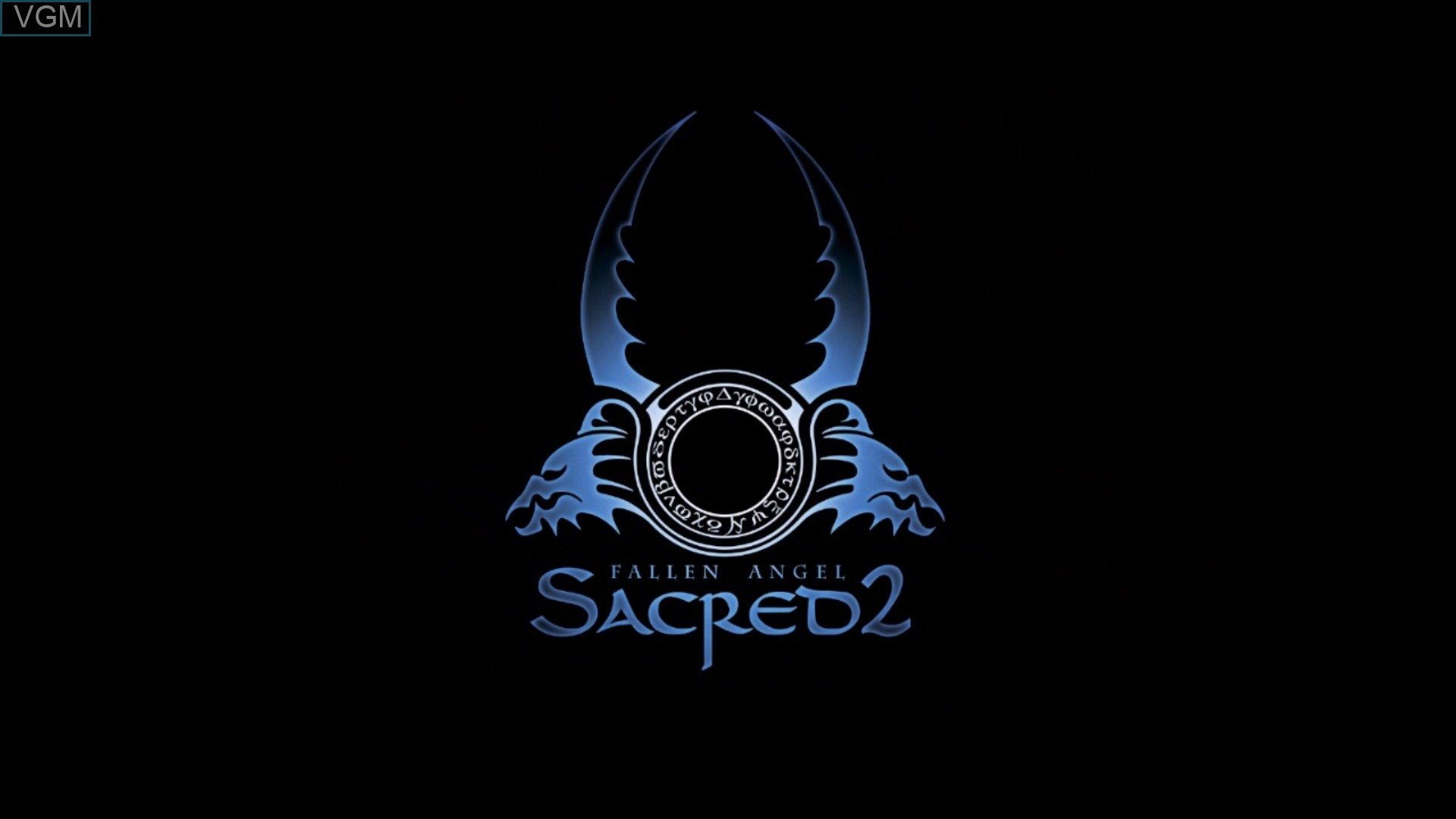 Title screen of the game Sacred 2 - Fallen Angel on Microsoft Xbox 360