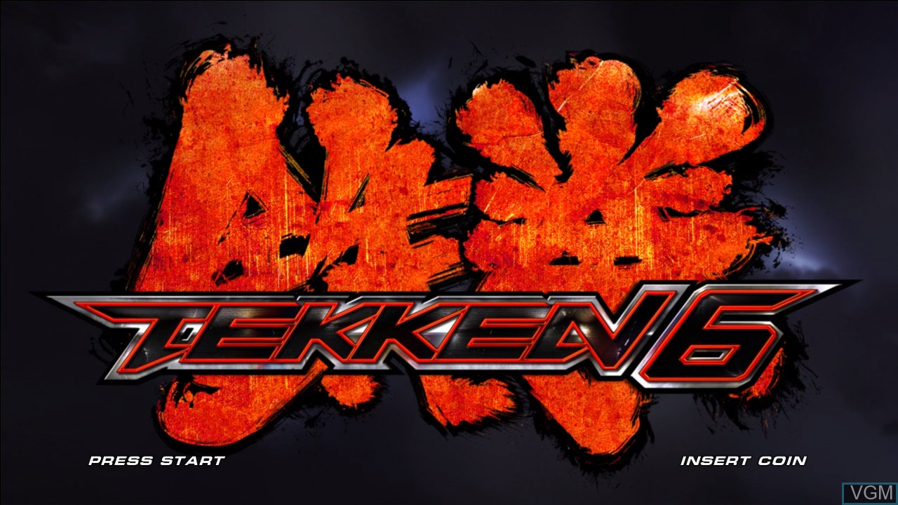 Title screen of the game Tekken 6 on Microsoft Xbox 360