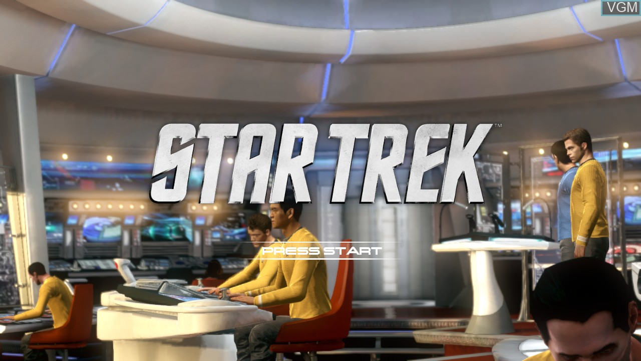 Title screen of the game Star Trek The Video Game on Microsoft Xbox 360