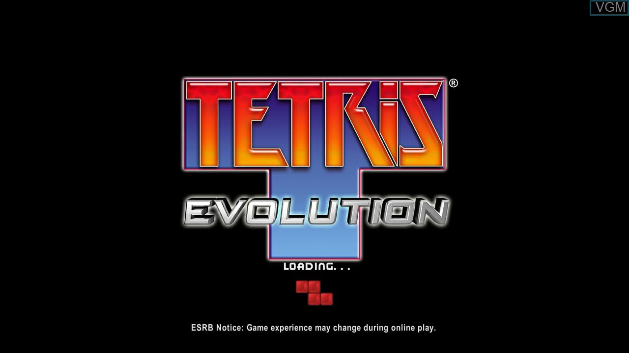 Title screen of the game Tetris Evolution on Microsoft Xbox 360