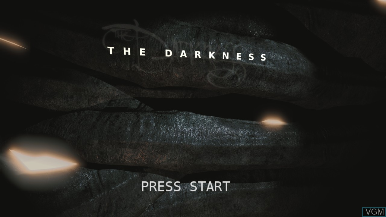 Title screen of the game Darkness, The on Microsoft Xbox 360