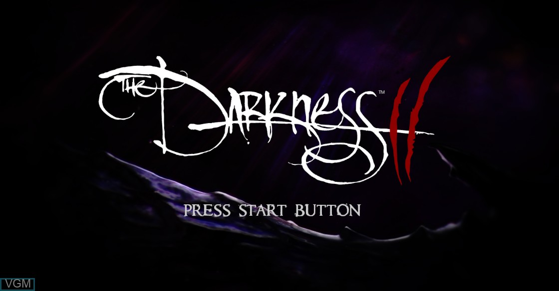 Title screen of the game Darkness II, The on Microsoft Xbox 360