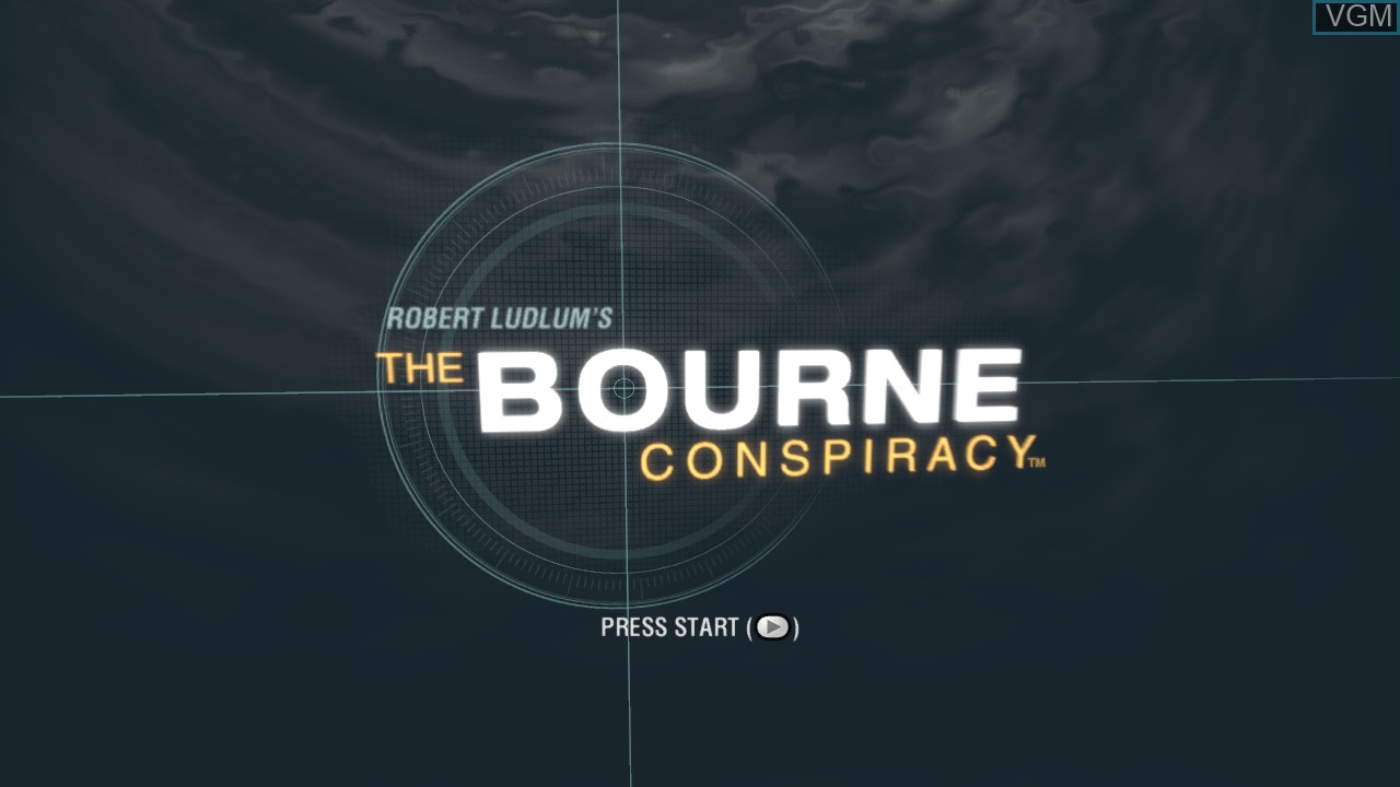 Title screen of the game Bourne Conspiracy, The on Microsoft Xbox 360