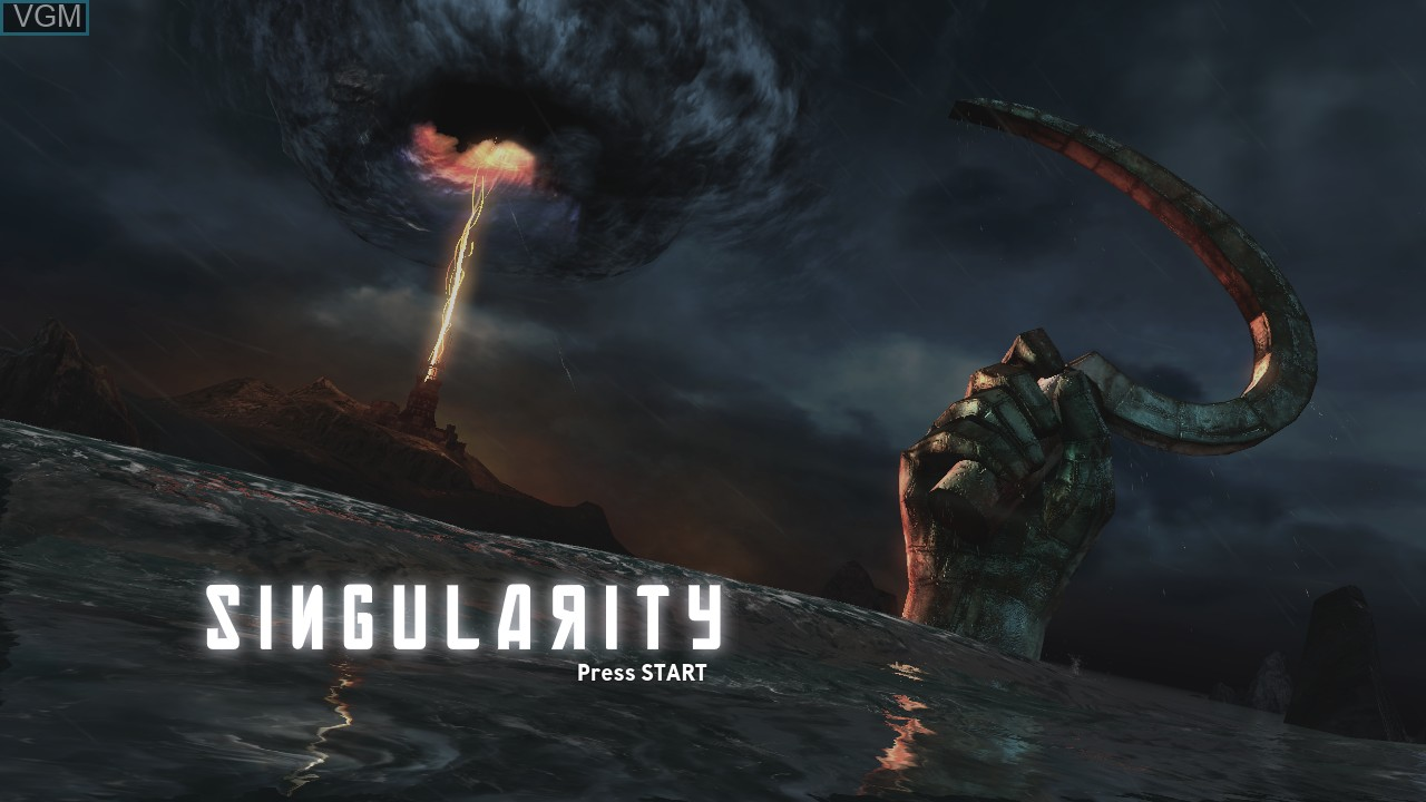 Title screen of the game Singularity on Microsoft Xbox 360