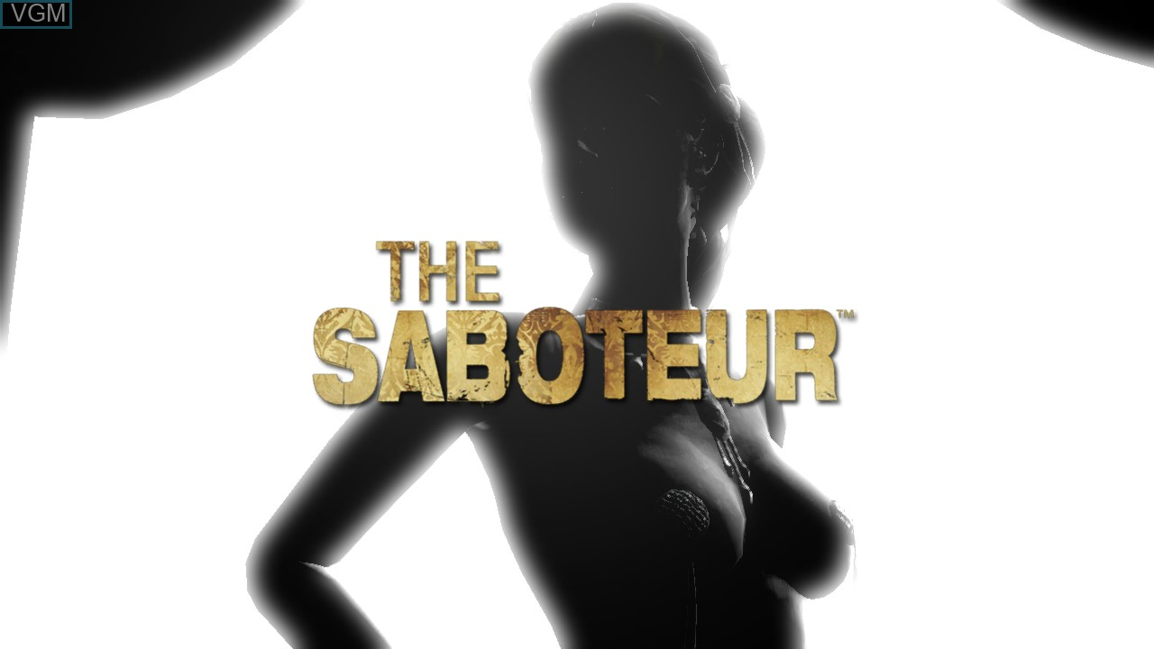 Title screen of the game Saboteur, The on Microsoft Xbox 360