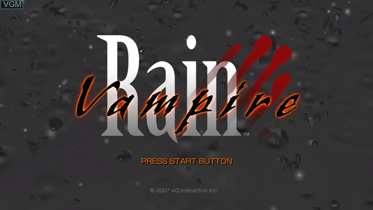 Title screen of the game Vampire Rain on Microsoft Xbox 360