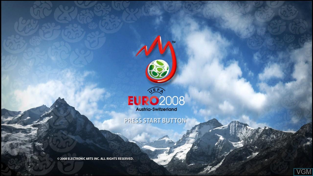 Title screen of the game UEFA EURO 2008 - Austria-Switzerland on Microsoft Xbox 360