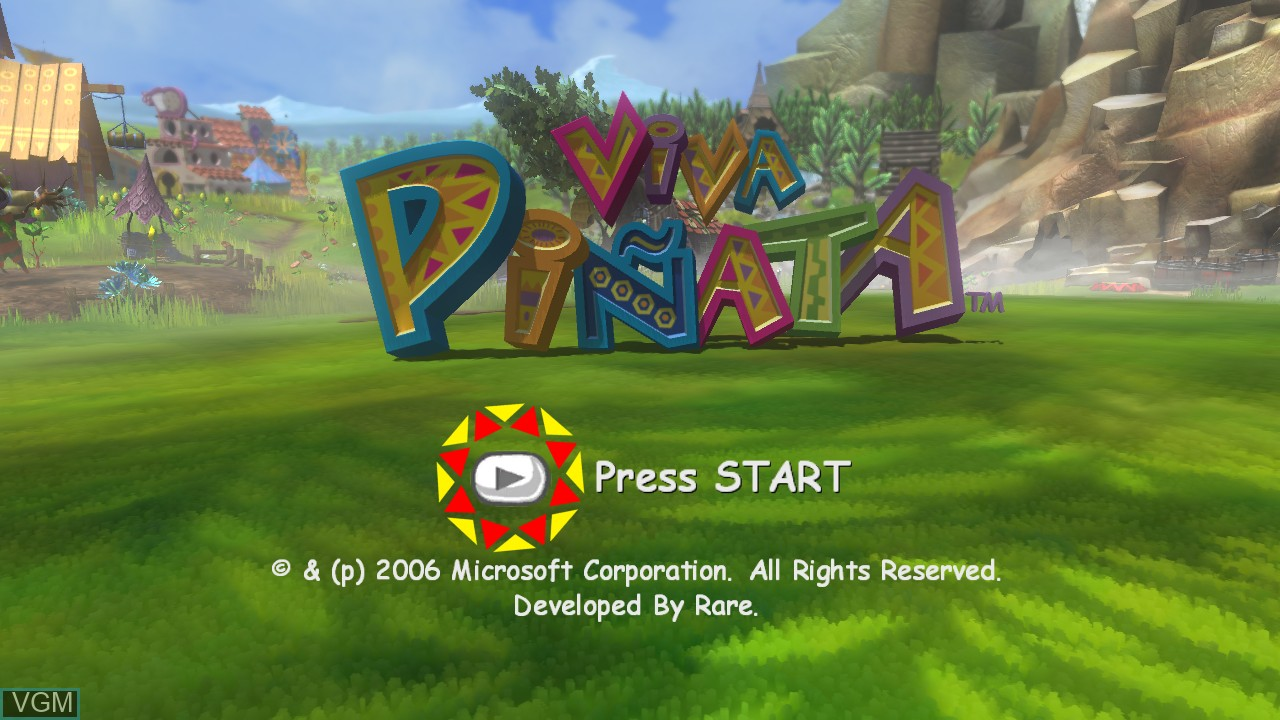 Title screen of the game Viva Pinata on Microsoft Xbox 360