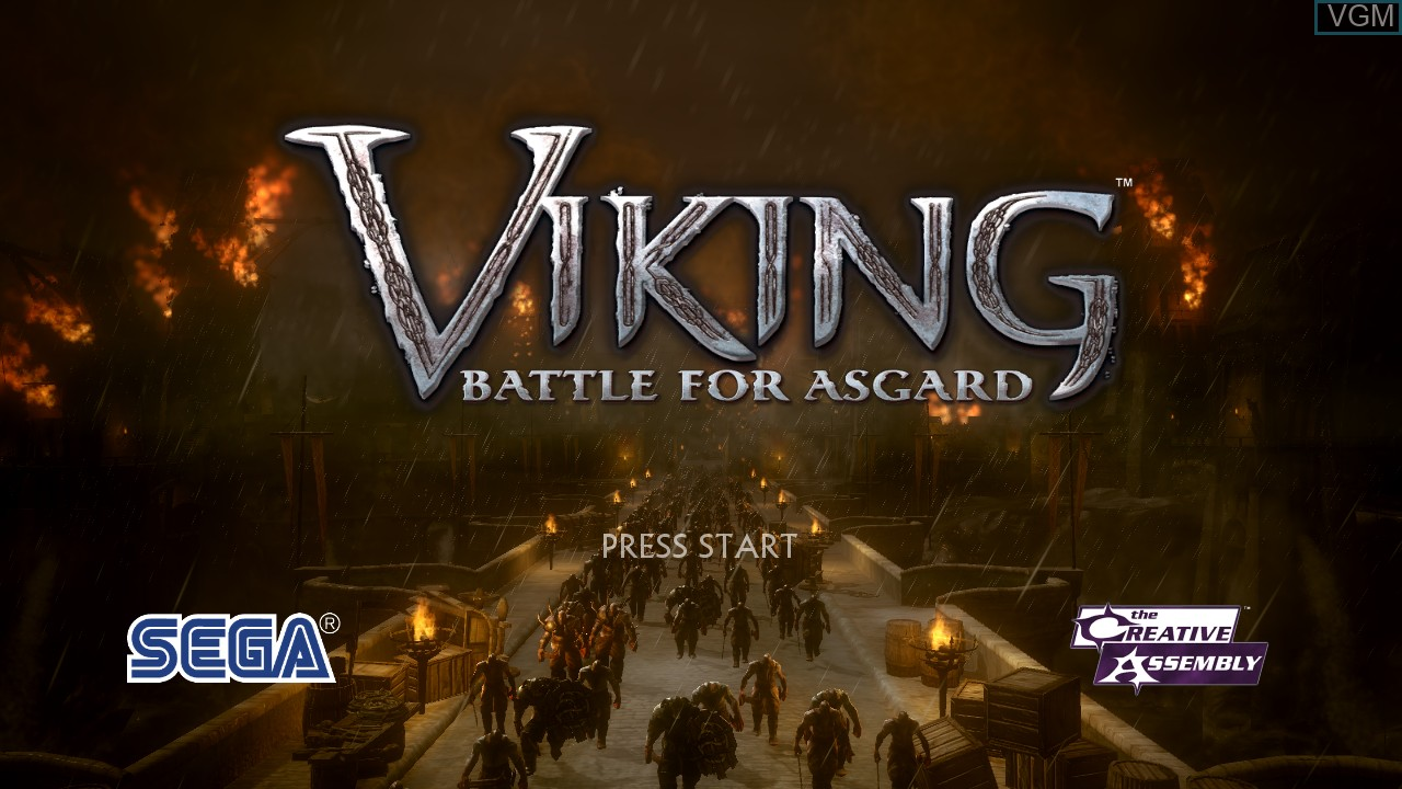 Title screen of the game Viking - Battle for Asgard on Microsoft Xbox 360