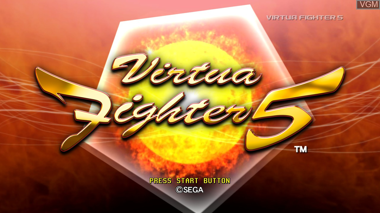 Title screen of the game Virtua Fighter 5 on Microsoft Xbox 360