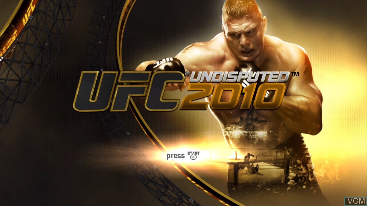 Title screen of the game UFC Undisputed 2010 on Microsoft Xbox 360